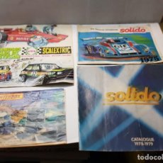 Juguetes antiguos: CATALOGOS COCHES A ESCALA SOLIDO ,MATCHBOX Y SCALEXTRIC. Lote 222074691
