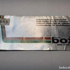 Juguetes antiguos: CATALOGO COCHES FERRARI A ESCALA 1/43 BOX 1985 ITALIA DIFICIL. Lote 222075527