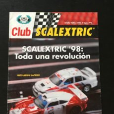 Juguetes antiguos: CLUB SCALEXTRIC SCX Nº 1 - REVISTA SLOT - PORSCHE 911 MITSUBISHI CALENDARIO CIRCUITOS. Lote 222103666