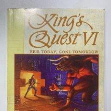 Juguetes antiguos: MANUAL DE INSTRUCCIONES DEL JUEGO DE ORDENADOR PC KING'S QUEST VI. Lote 222105615