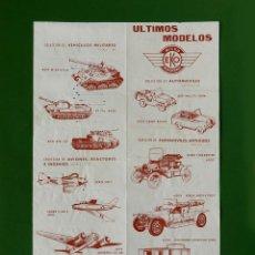 Brinquedos antigos: EKO - MICRO MINIATURAS - FOLLETO; ÚLTIMOS MODELOS - DÍPTICO - 1964 - ORIGINAL - DIFÍCIL. Lote 222109941