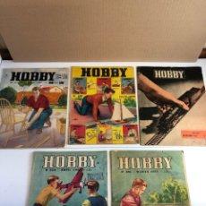 Juguetes antiguos: 5 REVISTAS HOBBY 1958/1959 NÚMEROS 239,246,259,271,303. Lote 225251972