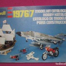 Juguetes antiguos: CATALOGO REVELL DE MODELOS PARA CONSTRUCCION AVIONES BARCOS MOTOS 1976.. Lote 225885495
