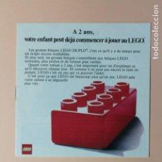 Juguetes antiguos: ANTIGUO CATALOGO DE JUGUETES LEGO EN FRANCES. AÑO 1974. DUPLO 8 PAGINAS. MEDIDAS 13,5 X 13,5 CM.. Lote 228547640