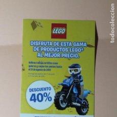 Juguetes antiguos: FLYER PUBLICITARIO DE LEGO. AÑO 2019. TRIPTICO DESPLEGABLE DE PUNTOS Y DESCUENTOS. VER FOTOS.. Lote 228669185
