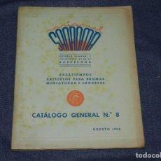 Juguetes antiguos: CATALOGO JUGUETES - SANROMÀ 1950 ARTICULAS DE BROMA, MINIATURAS, JUGUETES, MUY ILUSTRADO. Lote 234914145