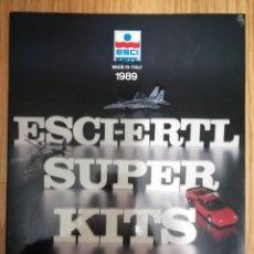 Juguetes antiguos: CATALOGO ESCI ERTL SUPER MADE IN ITALY 1989 + INSTRUCCIONES HAWK T MK1 MATCHBOX. Lote 237391000