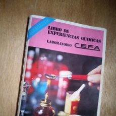 Juguetes antiguos: CEFA - LIBRO DE EXPERIENCIAS QUÍMICAS. Lote 238534515