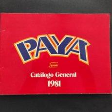 Juguetes antiguos: CATALOGO PAYA 1981. Lote 239948800