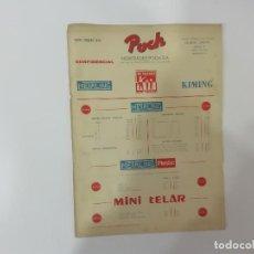 Giocattoli antichi: NOVEDADES POCH : METALING KIMING PLAY-DOH MINI TELAR... - TARIFA CONFIDENCIAL 1970 PALOUZIÉ -(L). Lote 240610290