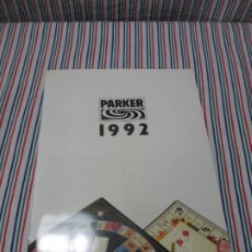 Giocattoli antichi: CATALOGO PARKER 1992, MONOPOLY, TRIVIAL, RISK, MAD, BRAINSTORM, ETC. Lote 243276405