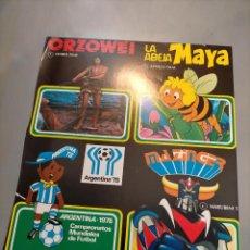 Giocattoli antichi: PUBLICIDAD MUÑECOS ARTESANIA BRBE MERCHANDISING ORZOWEI ABEJA MAYA MAZINGER Z ARGENTINA 78. Lote 244200220