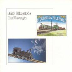 Juguetes antiguos: CATÁLOGO ETS ELECTRIC RAILWAYS ELEKTRIKA ZELEZNICE 1993 SCALE 1:45 32 MM - EN INGLÉS. Lote 244676090