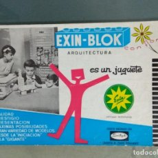 Juguetes antiguos: EXIN-BLOK ARQUITECTURA. CATALOGO E INSTRUCCIONES.. Lote 244681330