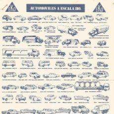 Juguetes antiguos: CATALOGO JUGUETES EKO AUTOMOVILES A ESCALA HO ESPAÑA METAL MODEL ORIGINAL 29,5 X 21 CM. Lote 246082135