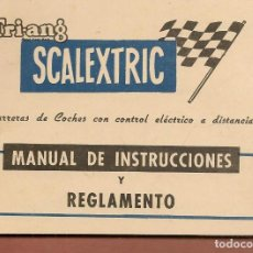 Juguetes antiguos: SCALEXTRIC TRI-ANG. CARRERAS DE COCHES CON CONTROL ELÉCTRICO A DISTANCIA.¡¡ORIGINAL!!.(P/D51). Lote 255392890
