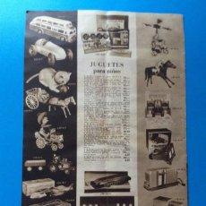 Juguetes antiguos: HOJA PUBLICIDAD ANTIGUA JUGUETES CINE NIC, ENVIO GRATIS. Lote 255922150