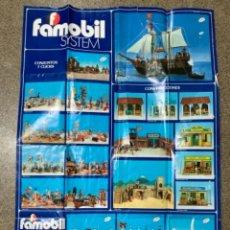 Juguetes antiguos: POSTER-CATALOGO FAMOBIL 1979. Lote 256064120