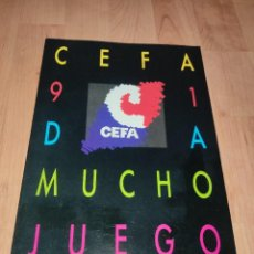 Juguetes antiguos: CATÁLOGO DE JUGUETES DE CEFA 1991. Lote 260576710