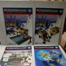 Juguetes antiguos: LOTE CATÁLOGOS LEGO MINDSTORMS LOTE 4 LOS DE LAS FOTOS. Lote 261127445