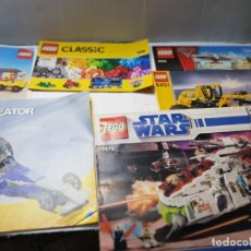 Juguetes antiguos: CATALOGOS LEGO LOTE 6 CREATOR,CLASSIC,STAR WARS ETC. Lote 261130230