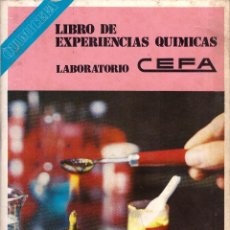 Brinquedos antigos: QUIMICEFA: LIBRO DE ESPERIENCIAS QUIMICAS LABORATORIO CEFA. Lote 268471679