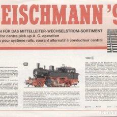 Juguetes antiguos: CATÁLOGO FLEISCHMANN 1998 NEUHEITEN FÜR WECHSELSTROM (MÄRKLIN) AC - EN ALEMÁN, INGLÉS Y FRANCÉS. Lote 269117783