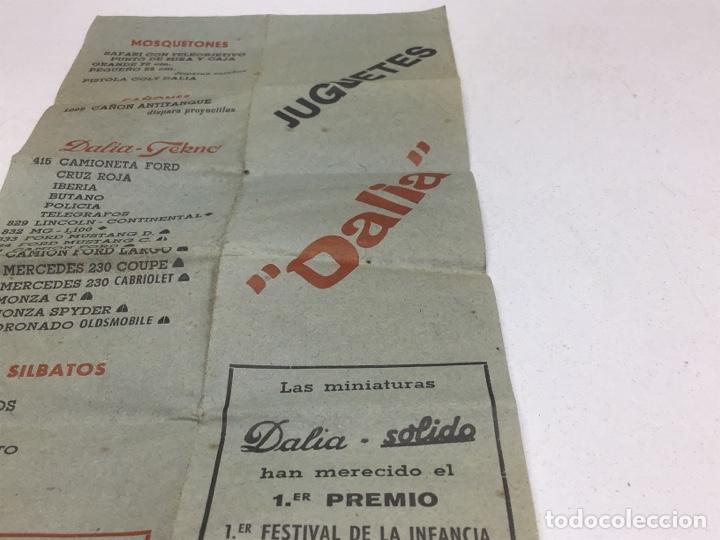 Juguetes antiguos: ANTIGUO CATALOGO- FOLLETO JUGUETES DALIA- SOLIDO - Foto 2 - 269394413