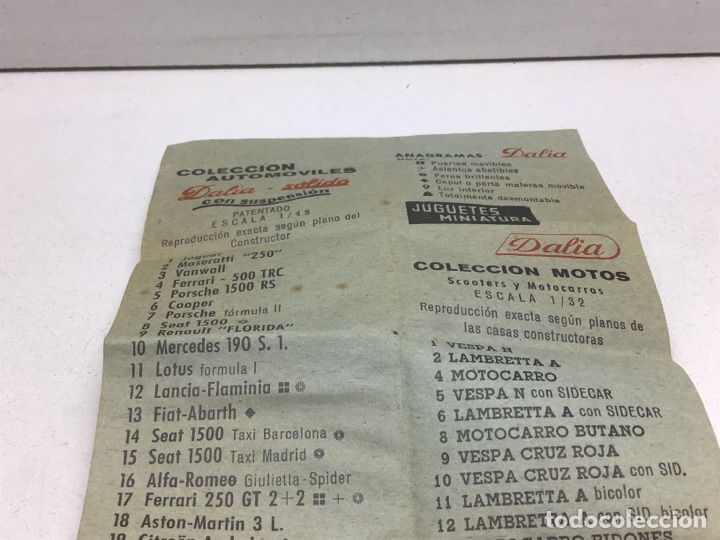 Juguetes antiguos: ANTIGUO CATALOGO- FOLLETO JUGUETES DALIA- SOLIDO - Foto 3 - 269394413