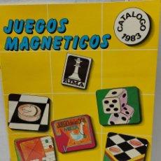 Juguetes antiguos: CATALOGO RIMA JUEGOS MAGNÉTICOS 1983. Lote 269991588