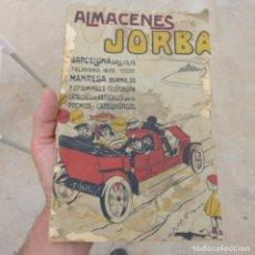Juguetes antiguos: ANTIGUO CATALOGO DE JUGUETES Y OTRAS MERCANCIAS , ALMACENES JORBA , BARCELONA MANRESA. Lote 275671073