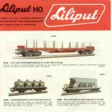 Juguetes antiguos: CATÀLOGO LILIPUT 1978.1 NYHET NEUHEITEN + HEKI BROCHURE - EN SUECO. Lote 277104443