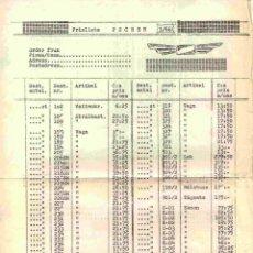 Juguetes antiguos: CATÀLOGO POCHER 1966 ONLY PREISLISTE SEK BROCHURE - EN SUECO. Lote 277108068