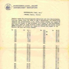 Juguetes antiguos: CATÀLOGO POCHER 1960 ONLY PREISLISTE SEK BROCHURE - EN SUECO. Lote 277108698