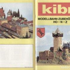 Juguetes antiguos: CATÀLOGO KIBRI 1978/79 MODELLBAHN - ZUBEHÖR HO N Z - EN ALEMÀN. Lote 277134598
