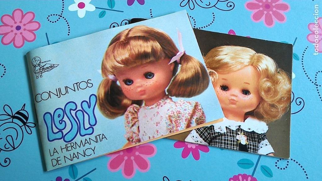 2 CATÁLOGOS DE LA MUÑECA LESLY DE FAMOSA - SIN USO (1977 Y 1978) (Juguetes - Catálogos y Revistas de Juguetes)