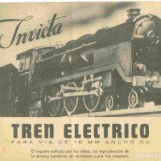 Juguetes antiguos: CATÀLOGO INVICTA 1955 TREN ELECTRICO PARA VIA DE 16 MM ANCHO OO - EN ESPAÑOL. Lote 277174513