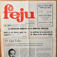 Giocattoli antichi: REVISTA FEJU. NUMERO 137 - AÑO 1970 . FERIA DEL JUGUETE DE VALENCIA. ¡OCASION !. Lote 278577808