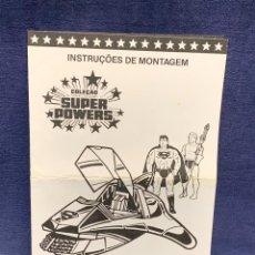 Juguetes antiguos: INSTRUCCIONES MONTAJE SUPER POWERS SUPERMOVER BRASIL 1986 ESTRELLA SA 22X14CMS. Lote 285234043