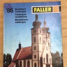 Juguetes antiguos: CATALOGO MODELISMO FALLER. INGLES - FRANCES Y HOLANDES. AÑOS 80. Lote 295475558
