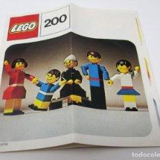 Juguetes antiguos: CATÁLOGO INSTRUCCIONES MONTAJE LEGO 200 DE 1974. Lote 297374593