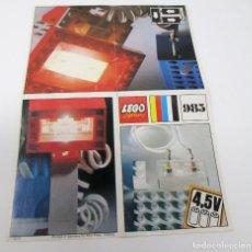 Juguetes antiguos: MINI CATÁLOGO LEGO SYSTEM 985. Lote 297375228
