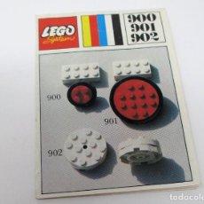 Juguetes antiguos: MINI CATÁLOGO INSTRUCCIONES LEGO 900 - 901 Y 902. Lote 297376858