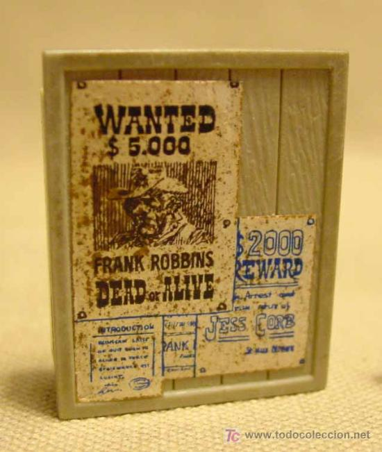 Complemento De Plastico Cartel Wanted Se Busc Kaufen Alte