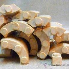 Brinquedos antigos Exin: LOTE BLOQUES O PIEZAS CURVAS, APROX. 170, DE PLASTICO, ORIGINAL, EXIN CASTILLOS, AÑOS 70S. Lote 23939095