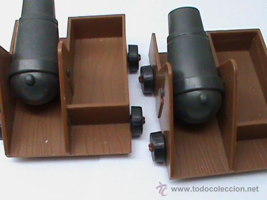 Juguetes antiguos Exin: 2 CAÑONES EXIN CASTILLOS POPULAR DE JUGUETES - Foto 2 - 29365535