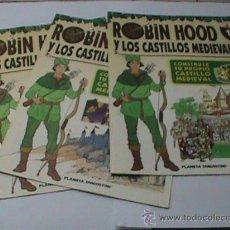 Juguetes antiguos Exin: 3 FASCICULOS ROBIN HOOD Y LOS CASTILLOS MEDIEVALES EXIN CASTILLOS Nº 34,35,36. Lote 30114643
