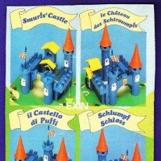 Juguetes antiguos Exin: EXIN CONSTRUCCION - EL CASTILLO DE LOS PITUFOS - CASI COMPLETO - VER FOTOS - AÑO 1983. Lote 32577416