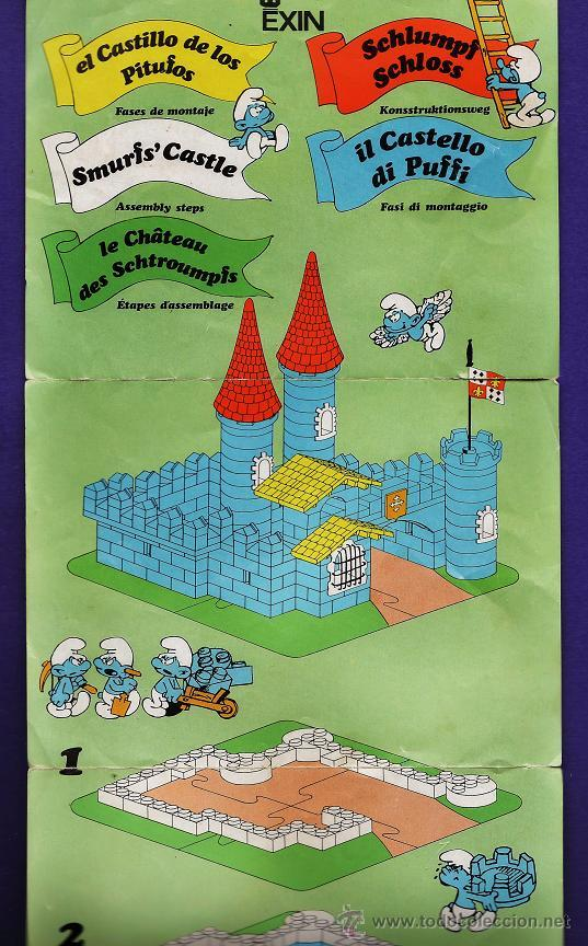 Juguetes antiguos Exin: exin construccion - el castillo de los pitufos - casi completo - ver fotos - año 1983 - Foto 3 - 32577416