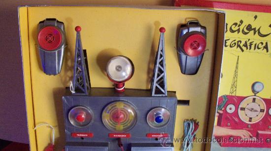 Juguetes antiguos Exin: Exin Juguete.Juego Exin. Estación Radiotelegráfica. Dibujos de Sabatés. - Foto 4 - 34354909